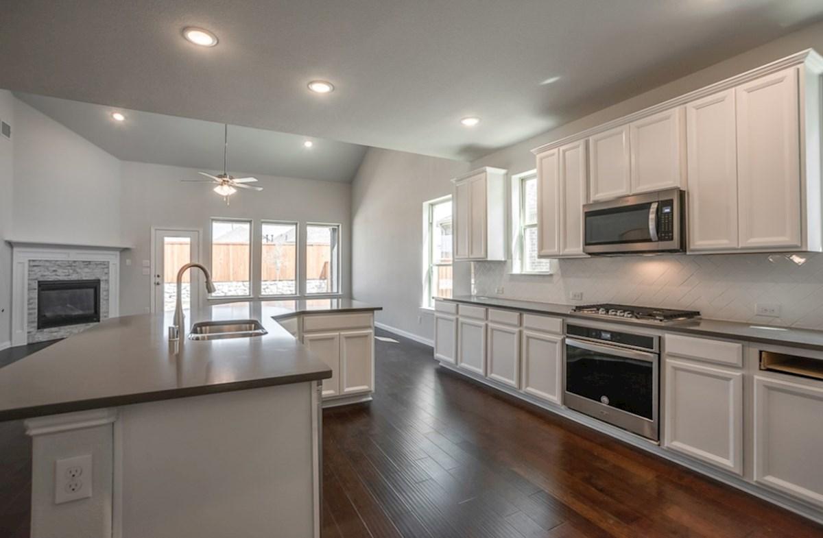 Blackburn quick move-in Blackburn kitchen with white cabinets