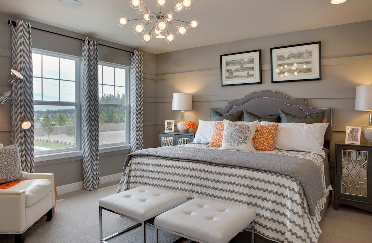 Long Lake Ranch Townhomes Champlain Champlain gray master suite