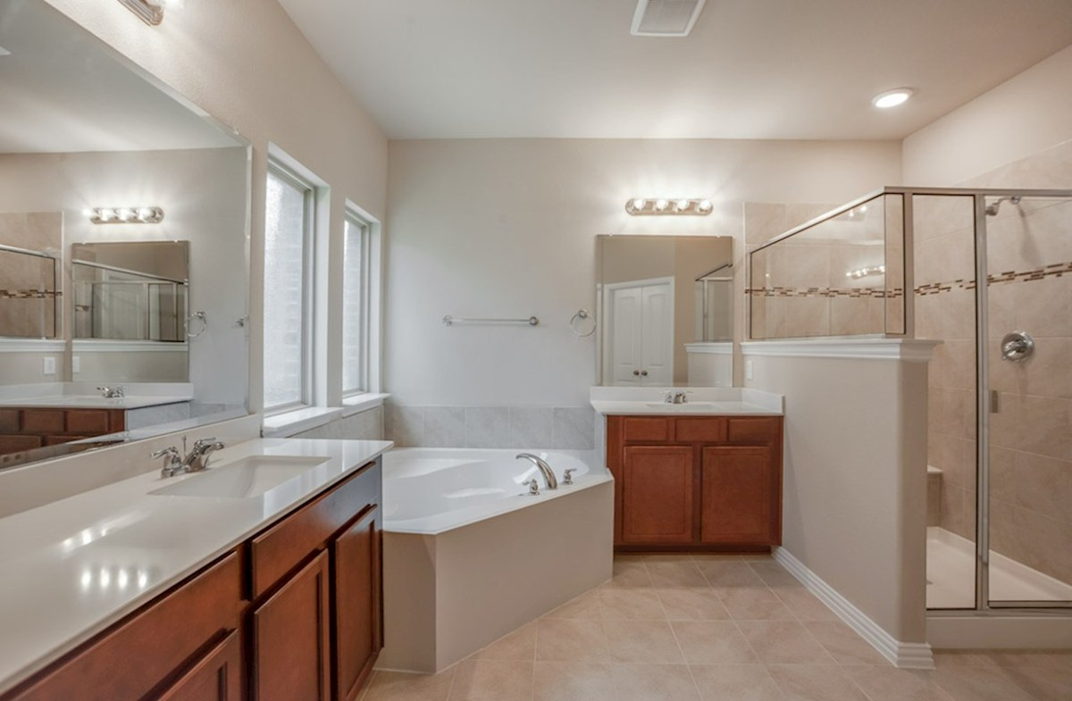 Madison quick move-in Madison master bath with separate tub and shower