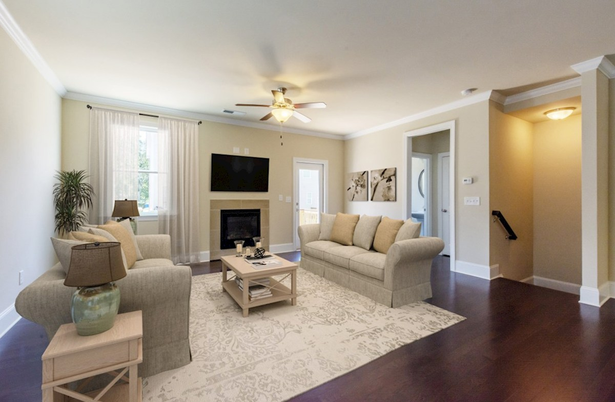 Langley quick move-in Family Room with fireplace