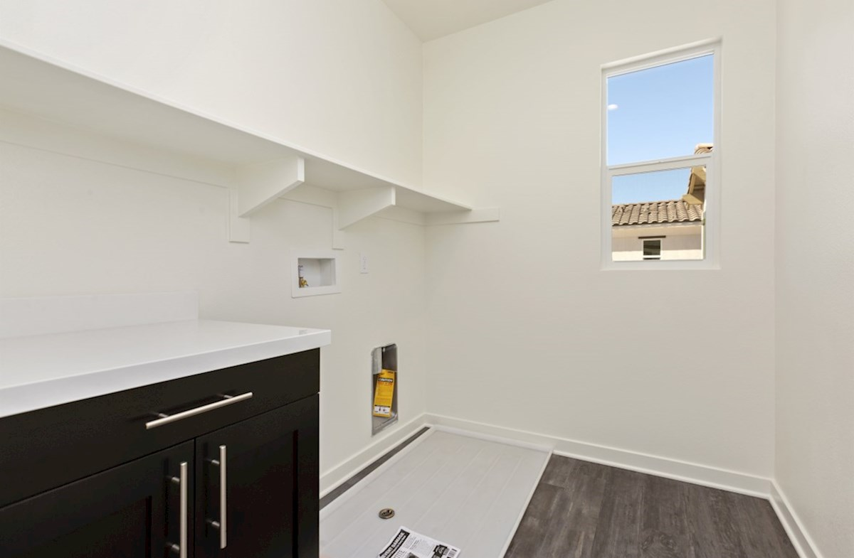 Suncup quick move-in Abundant storage in the convenient upstairs laundry room.