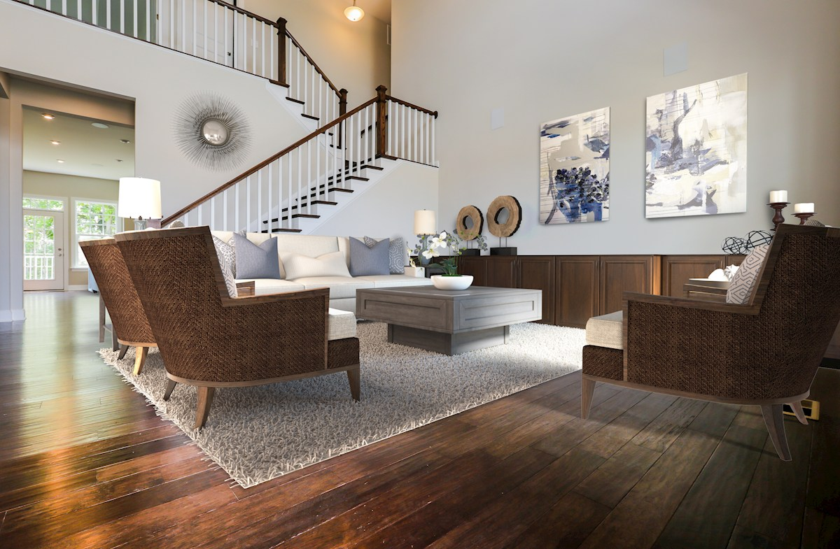 Willowsford Daventry grand living room
