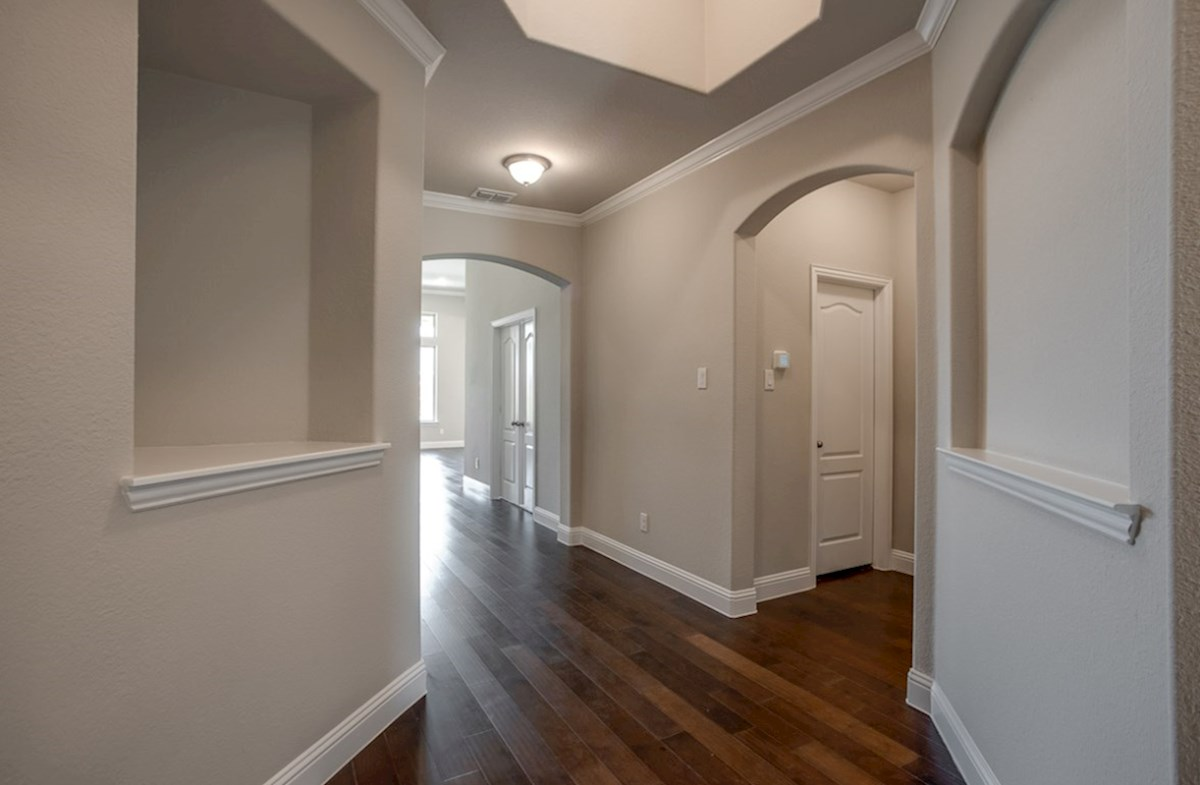 Blakely quick move-in entry with wood flooring