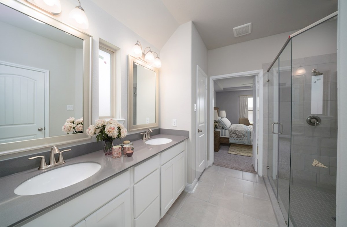 Southwinds Brook master bath with separate tub and shower