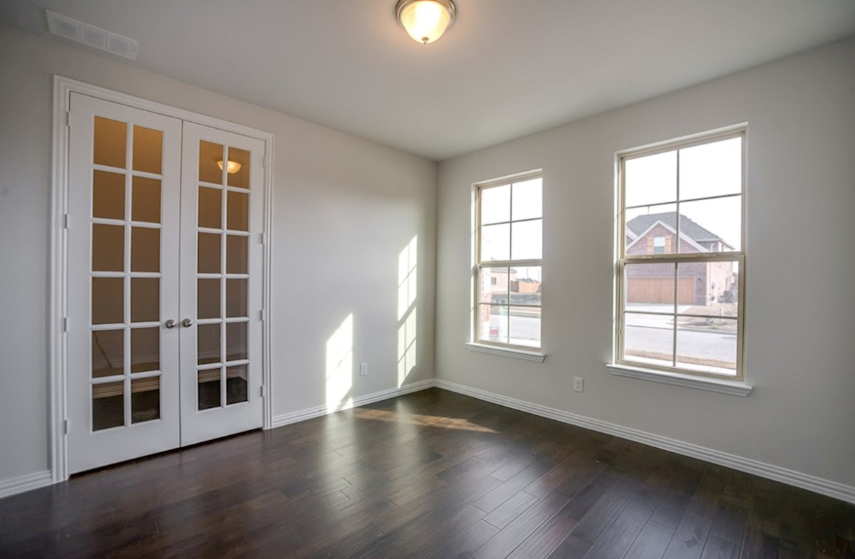 Galveston quick move-in study with French doors and wood floors