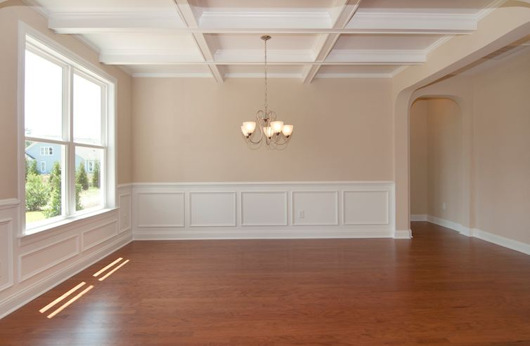 Balmoral at Market Common District Lennox Dining room with coffered ceiling