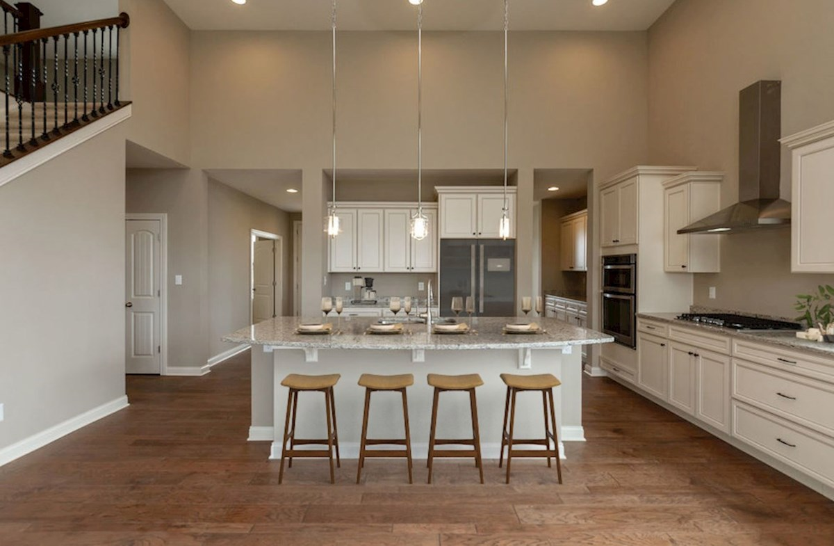 Kessler quick move-in Large kitchen island with breakfast bar