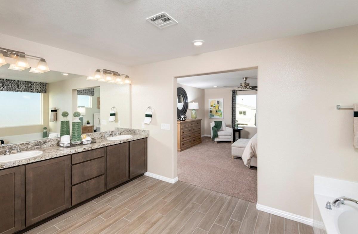 Hawthorne at Sedona Ranch Sienna spa-inspired master bath in the Sienna model