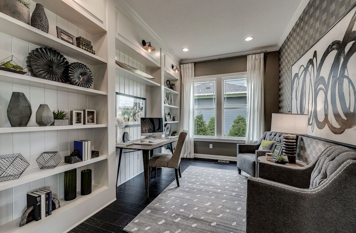Hampshire Meridian Collection Delaware home office with build in book shelves