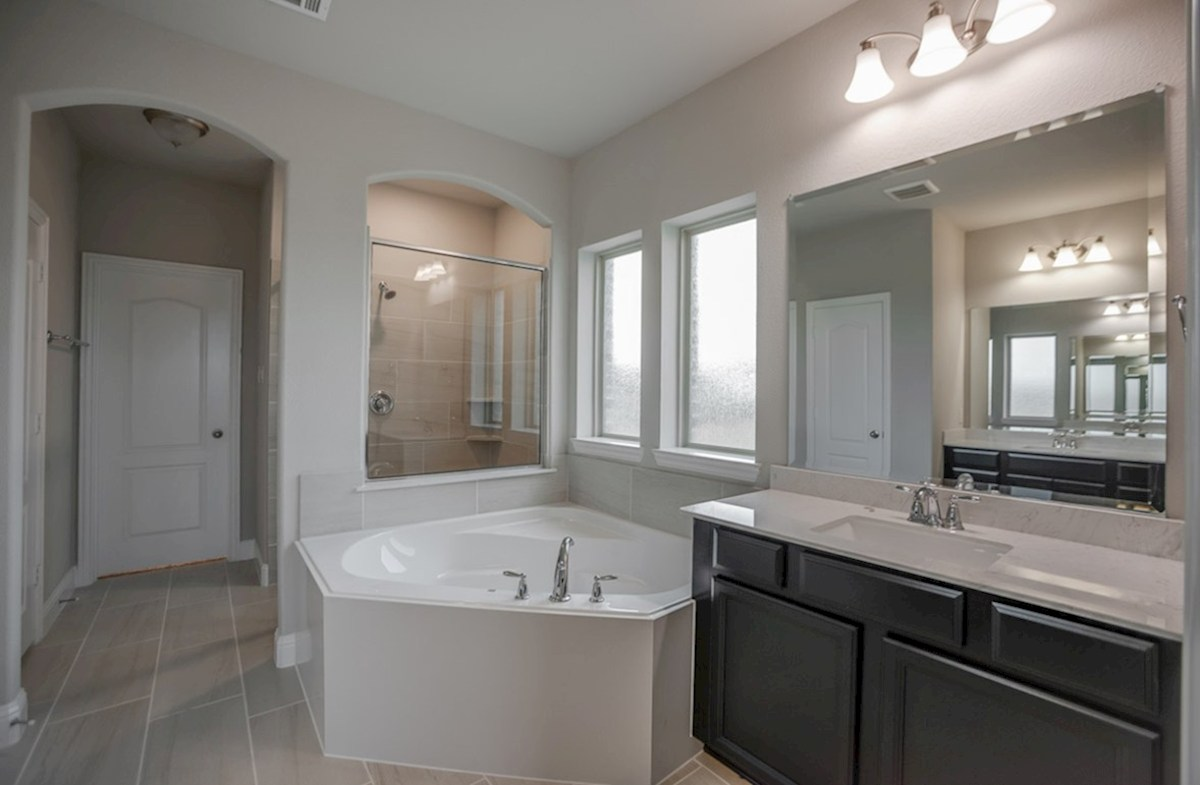 Aberdeen quick move-in Aberdeen master bathroom with separate tub and shower