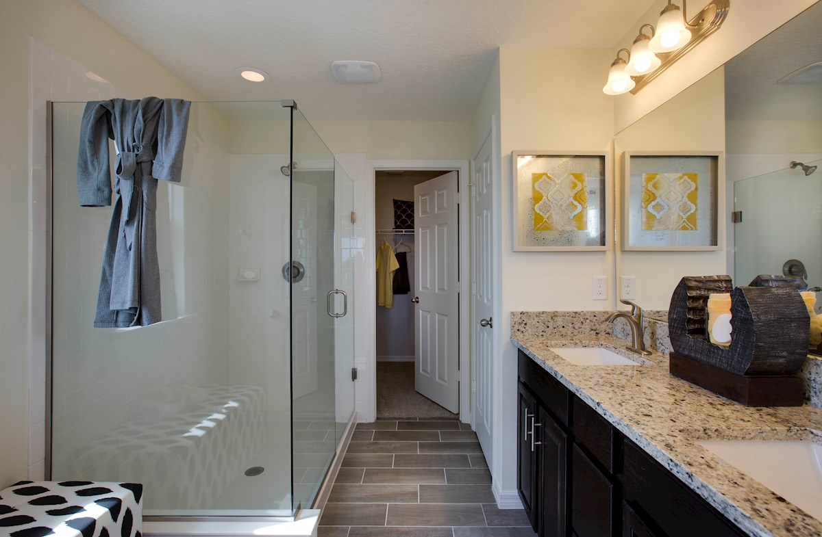 Summerlake Townhomes Richmond End blissful master bathroom