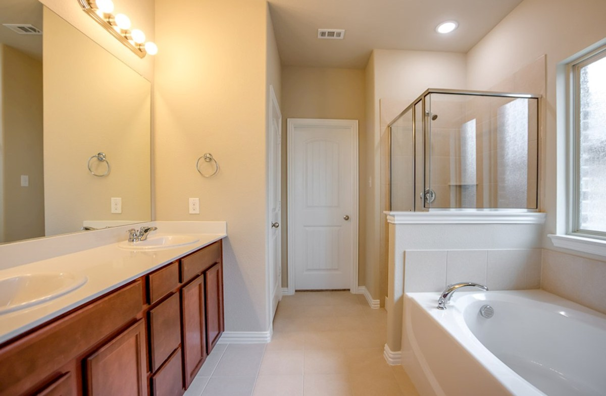 Avalon quick move-in master bath includes seperate tub and shower