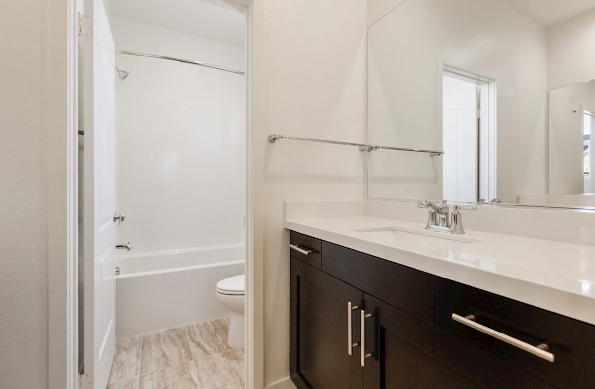 Aster X quick move-in Spacious secondary bathrooms with separate vanities