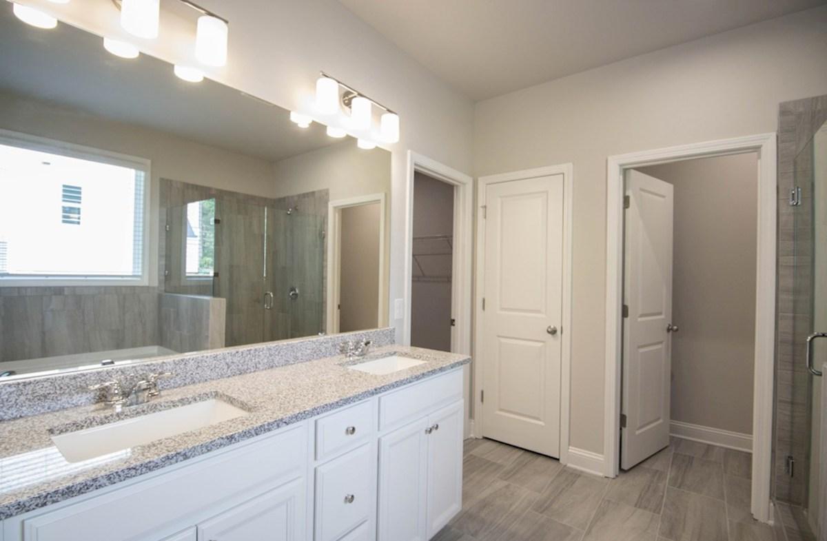 Milford Point Kensington Master Bathroom with dual sinks