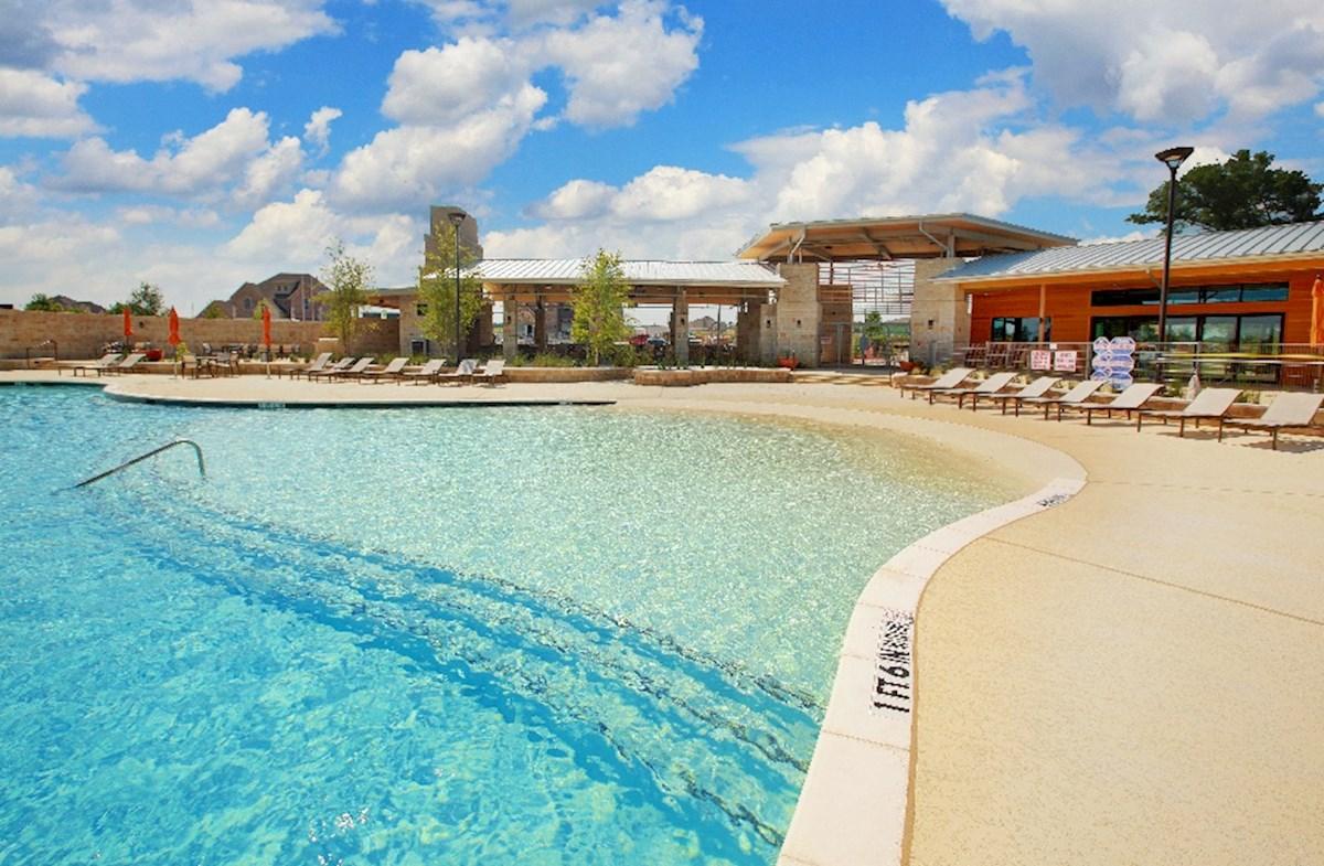 relaxing community pool