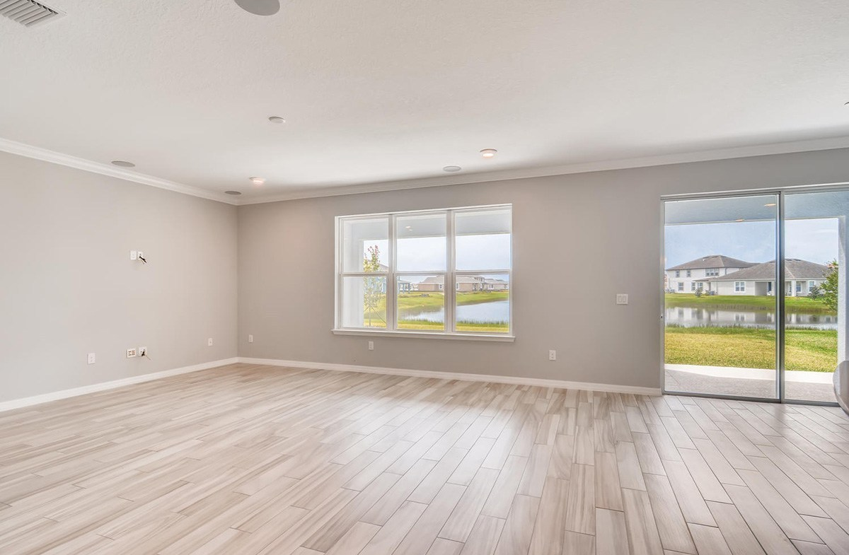 Sequoia quick move-in Great Room with pond views
