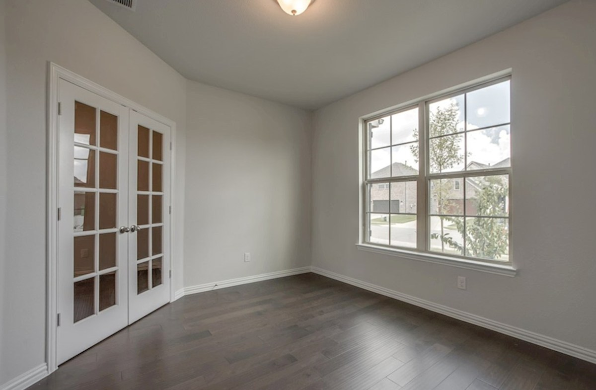 Avalon quick move-in private study with wood floors and French doors
