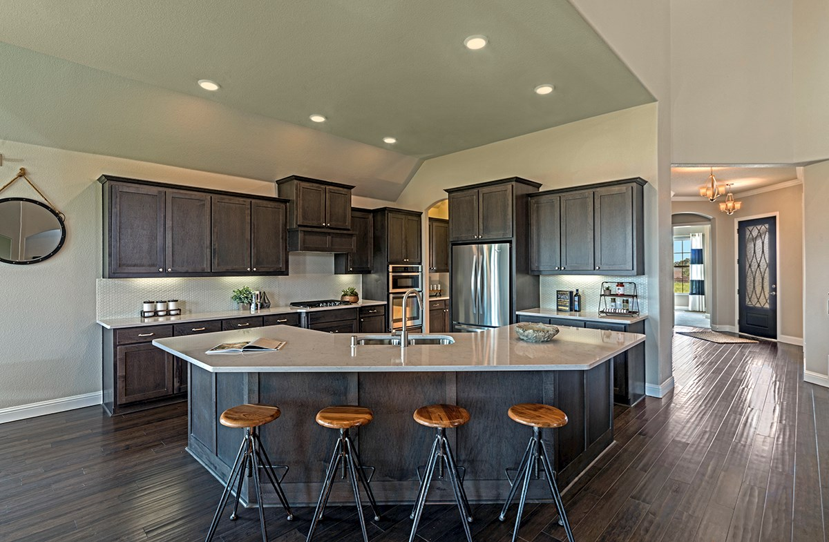 Kerrville kitchen with a large island
