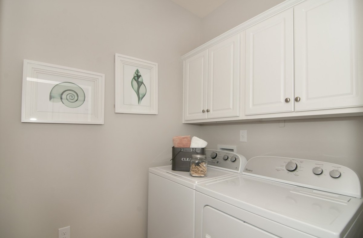 Bella Vita Gardens Jasmine spacious laundry room