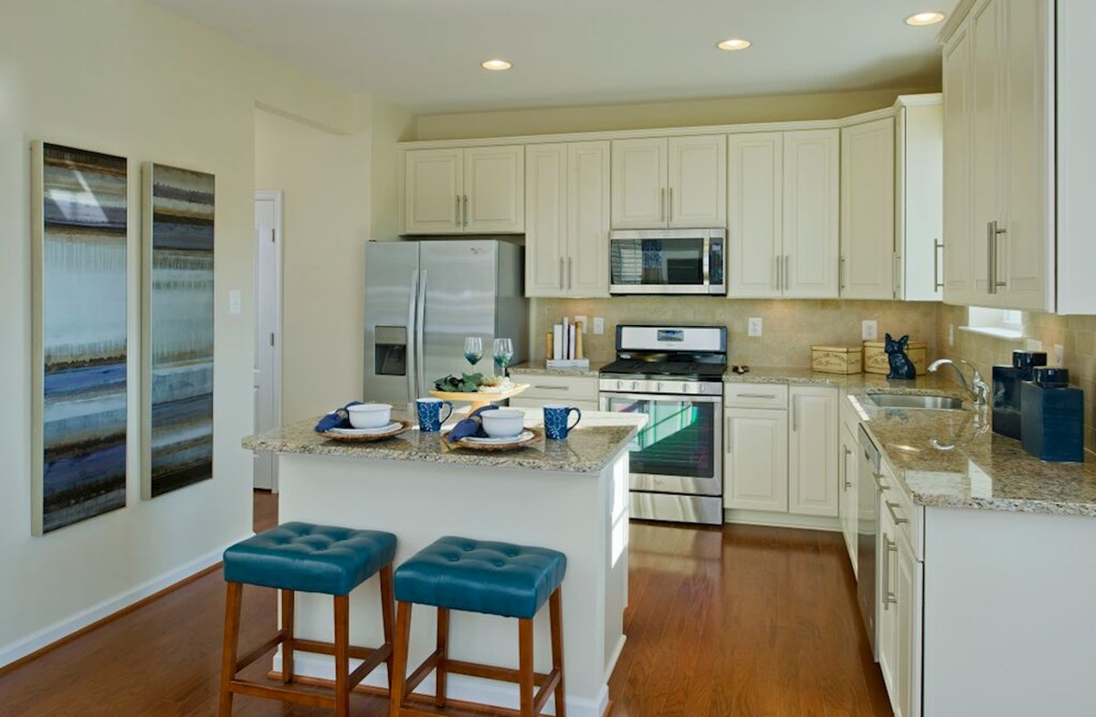The Preserve at Windlass Run - Single Family Homes Harrison kitchen with island