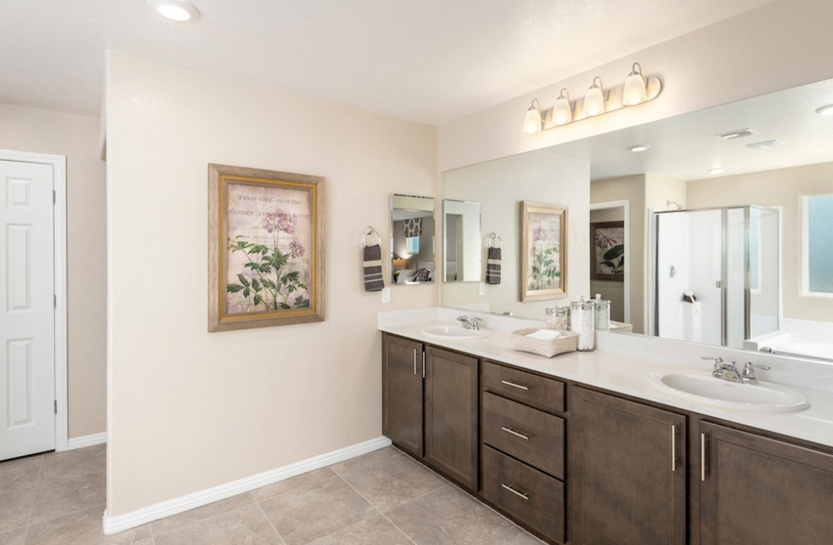 Burson Sienna spa-inspired master bath in the Sienna