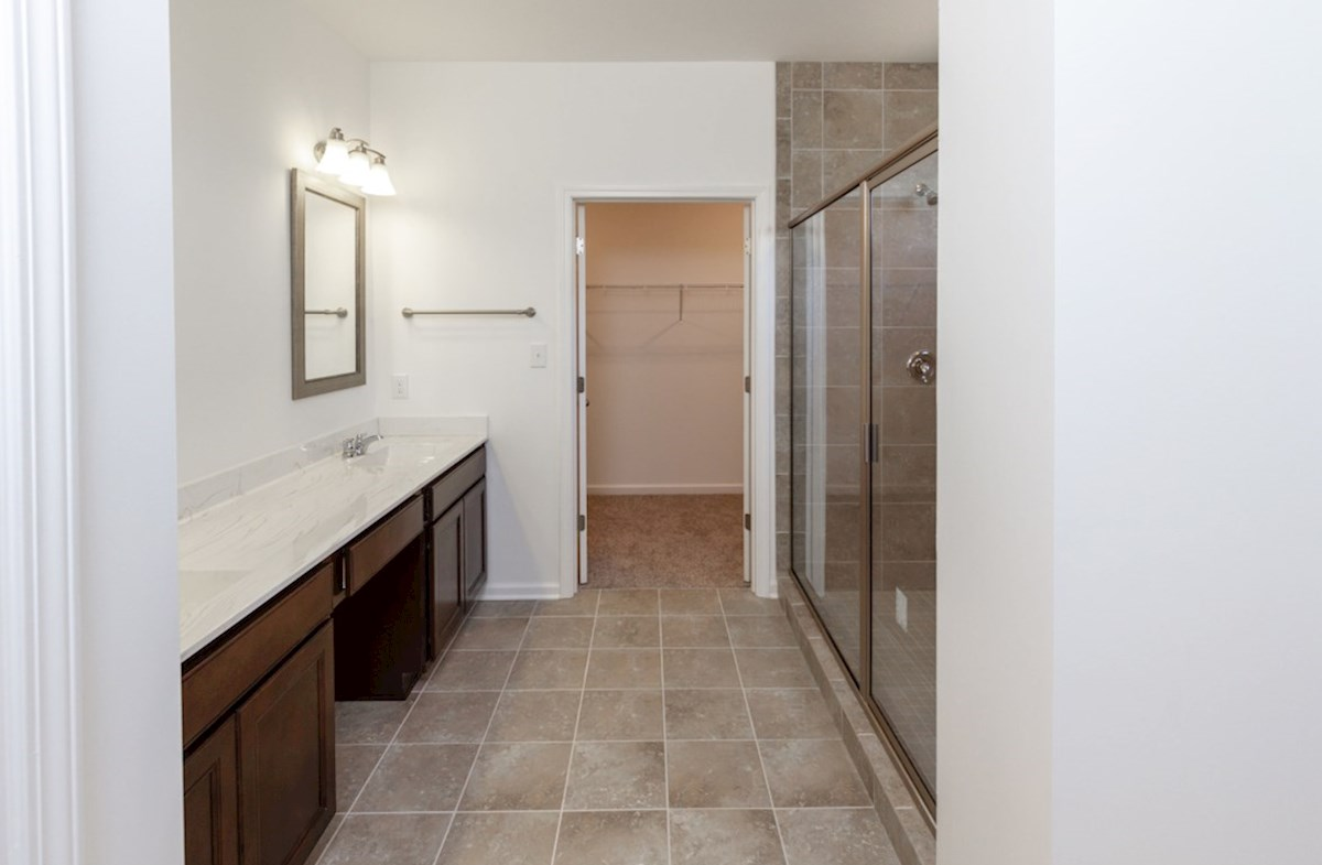 Greenwich quick move-in Spacious master bath with walk-in closet