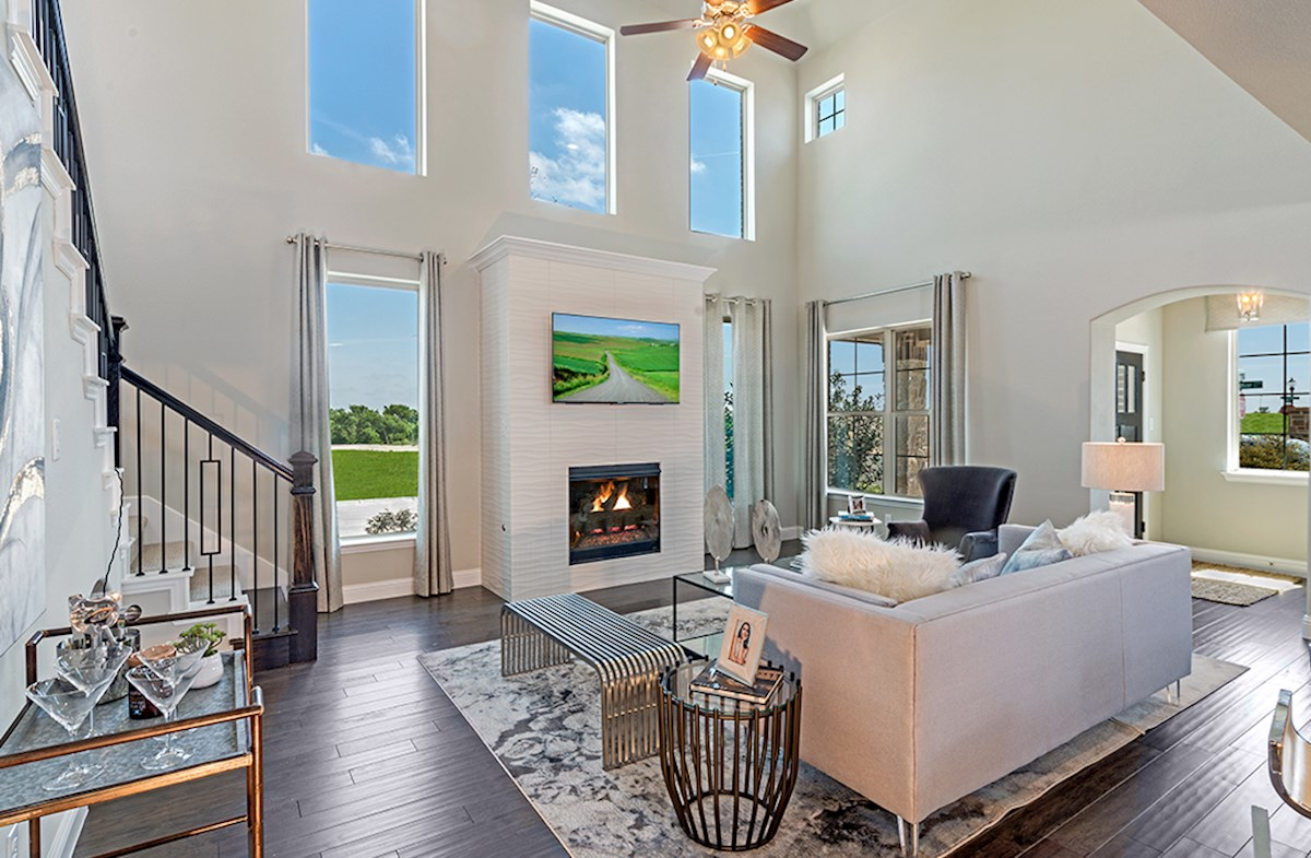 Brazos great room with large windows