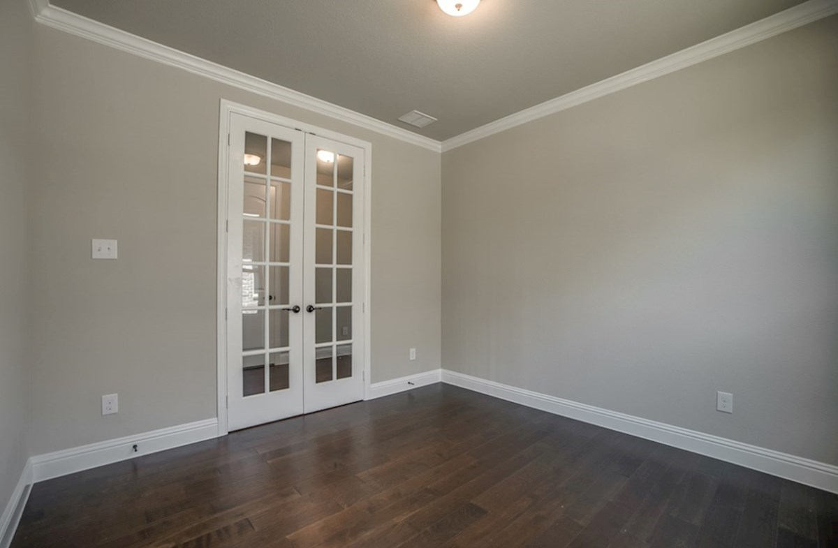 Summerfield quick move-in private study with wood floors and French doors