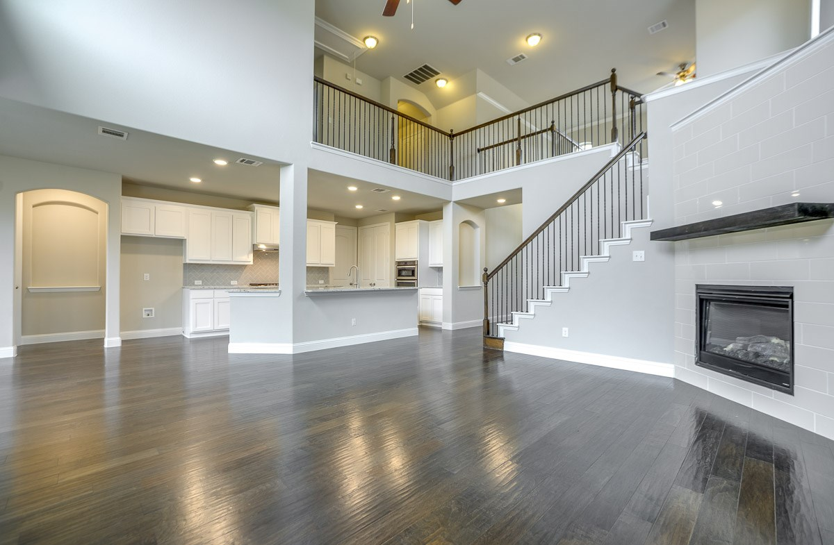 Brookhaven quick move-in fireplace in open great room