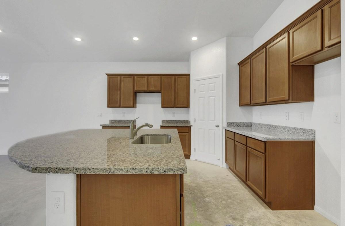 Zion quick move-in Wheat cabinets & New Venetian Gold granite - homesite #6