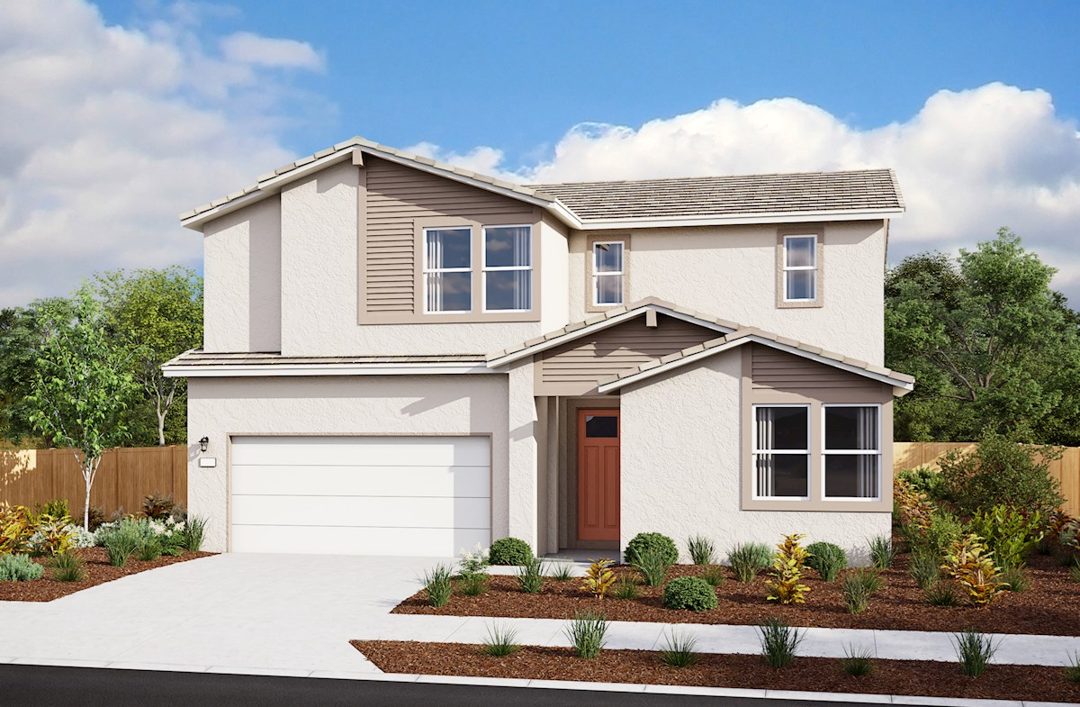 front exterior rendering of two-story home