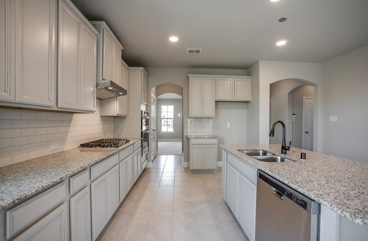 Prescott quick move-in kitchen with tille and grey cabinets