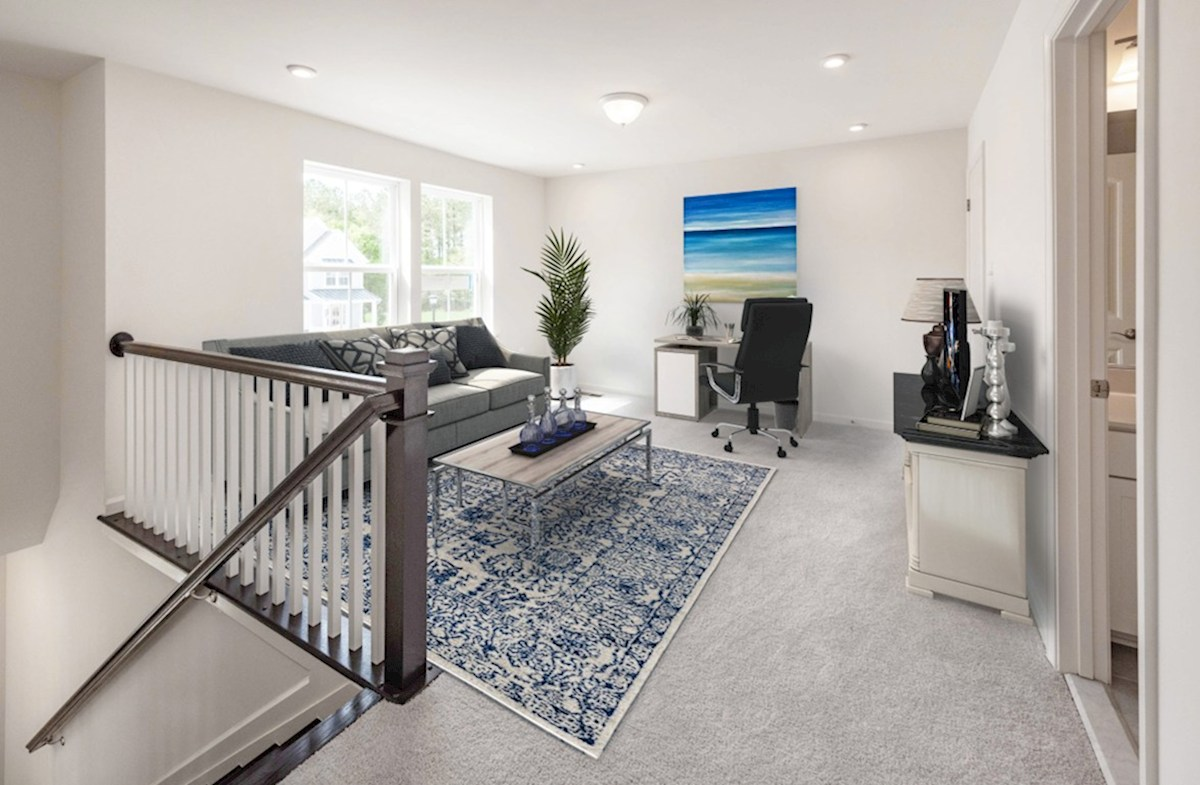 Heron's Ridge at Bayside Dover 2nd floor loft in the Dover provides additional living space