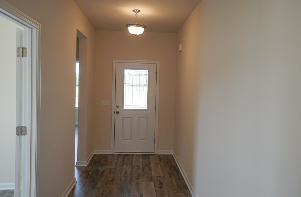 Georgetown quick move-in private foyer with luxury vinyl plank flooring