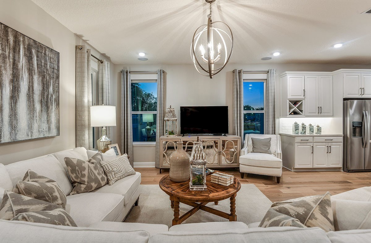 Reserve at Citrus Park Windjammer Open great room with large windows for natural light