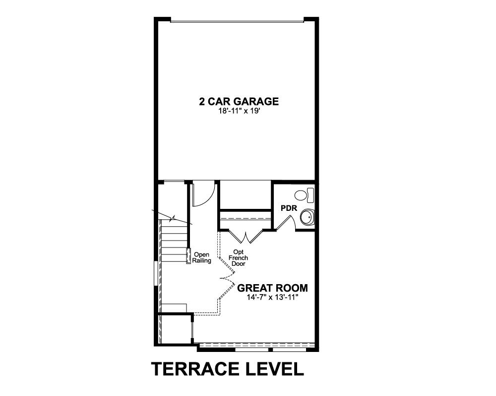 Terrace Level floor plan