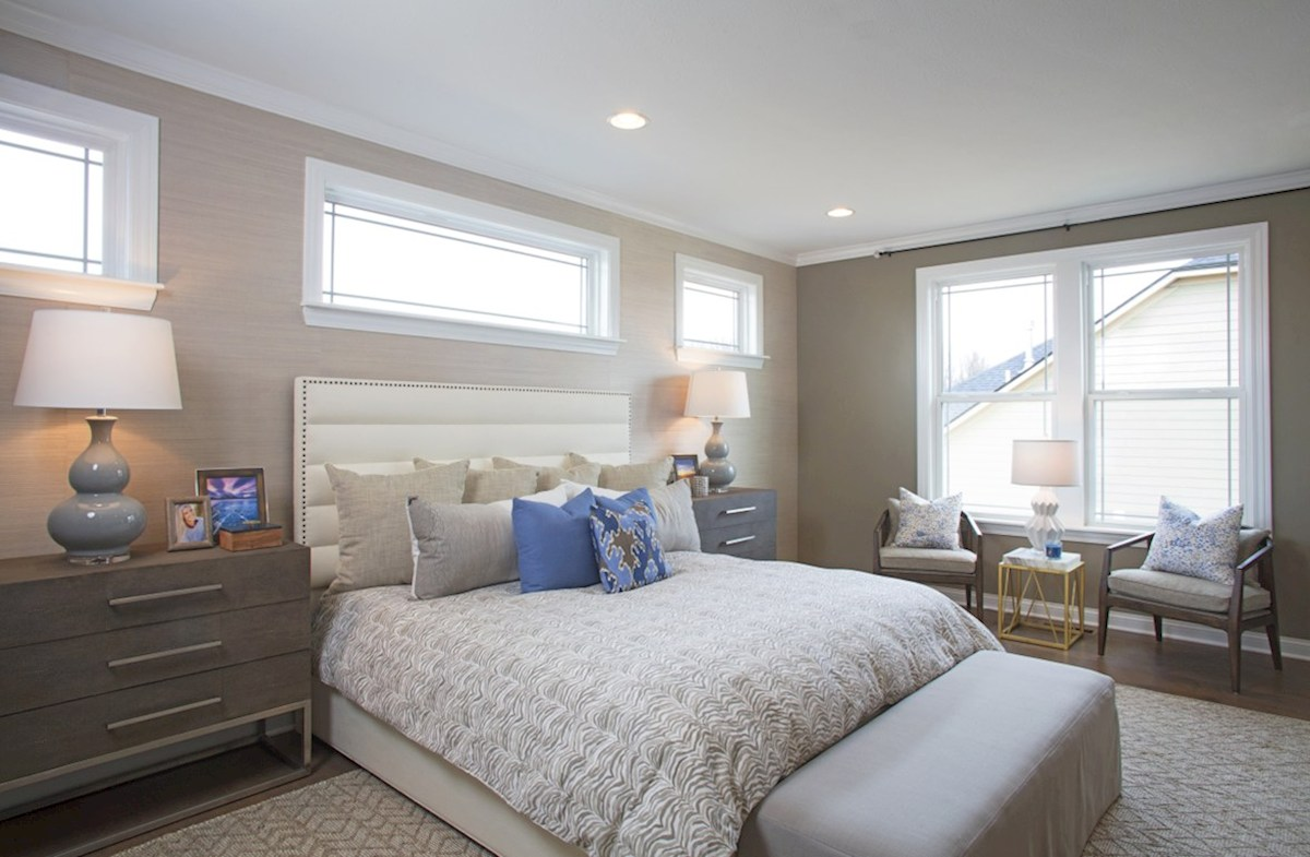 Hampshire Meridian Collection Tarkington master bedroom with plenty of windows for natrual light
