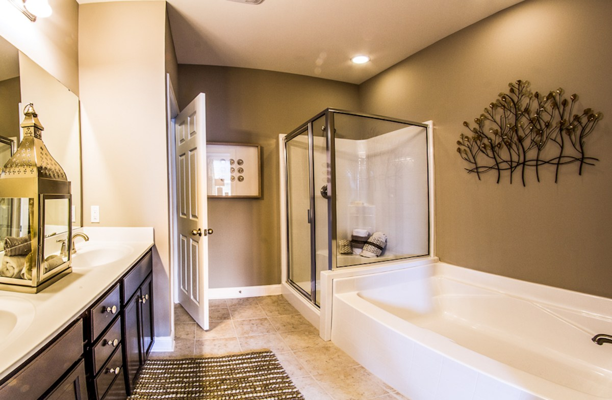 Maybank Village Franklin tranquil master bathroom
