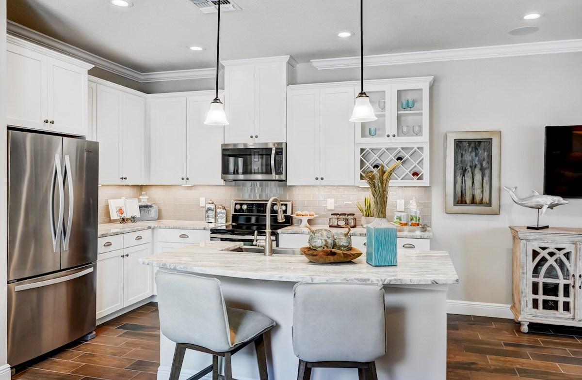 Aqua Solis Aruba - Interior Kitchen with a center island
