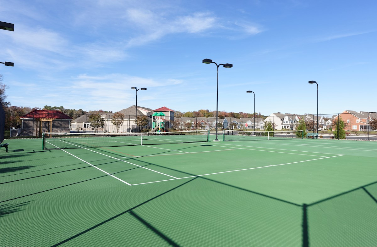 Enjoy the community har-tru tennis courts