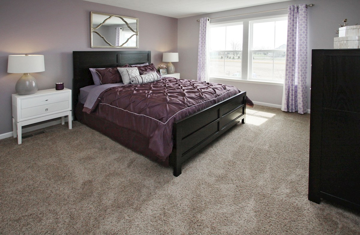 Heritage Trace Bradley guest bedroom with spacious closet