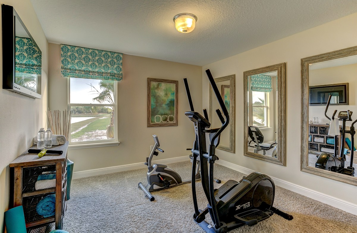 The Reserve at Pradera Madison secondary bedroom gym