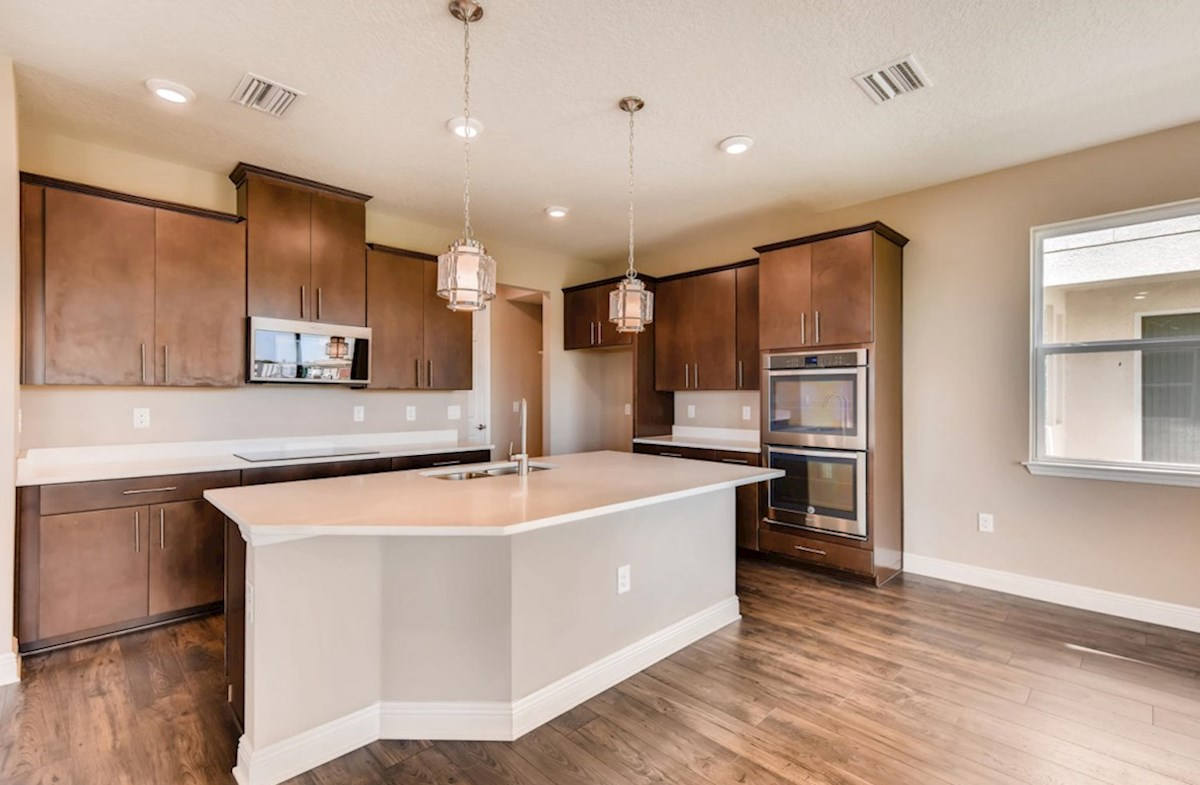 Lucia Bay quick move-in Gourmet kitchen with double oven and glass cook top
