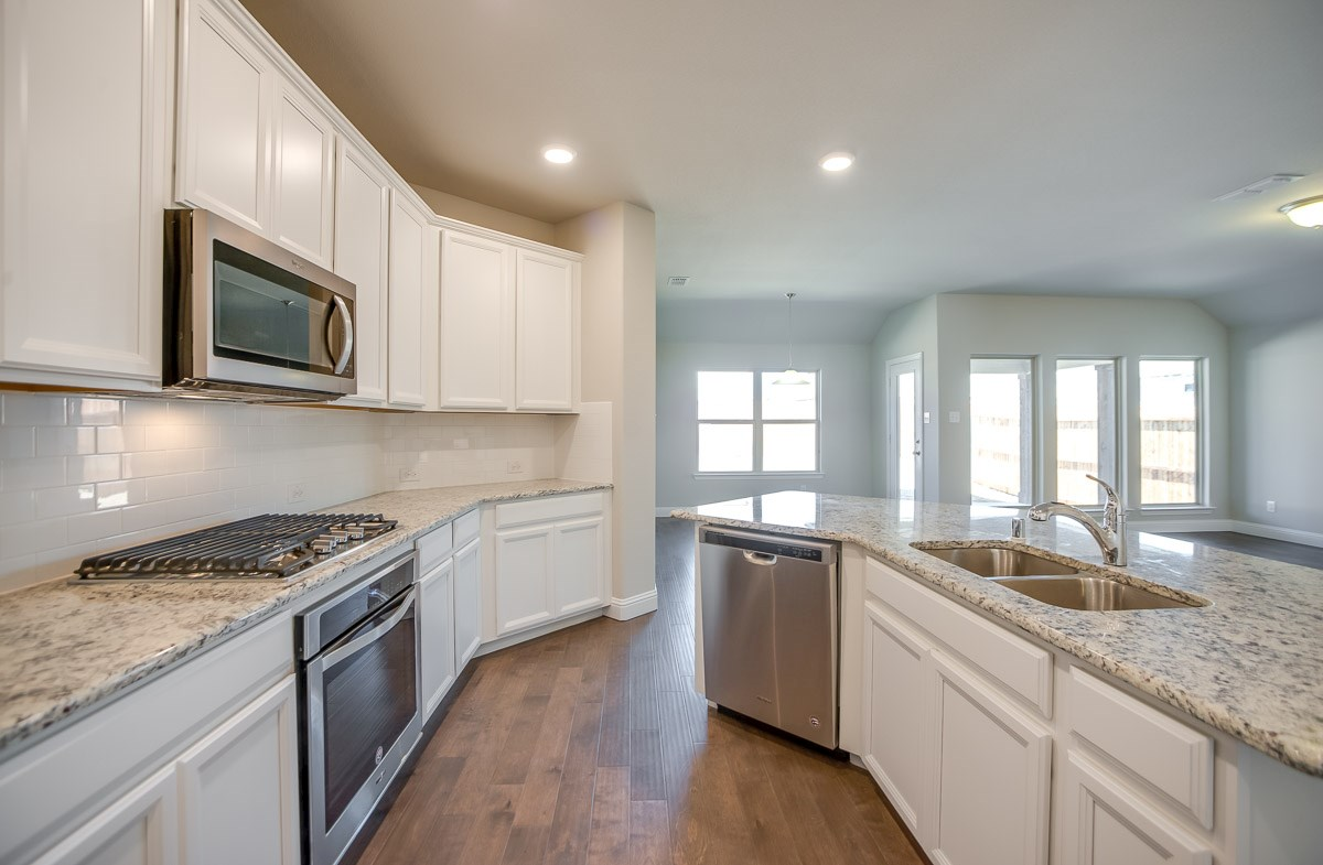 Baxter quick move-in white kitchen cabinets