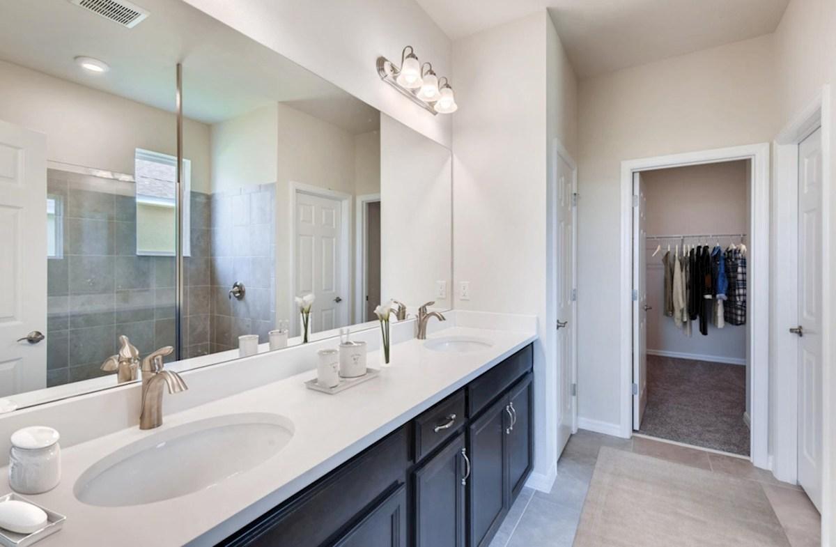 The Reserve at Pradera Sand Bar spa-inspired master bathroom