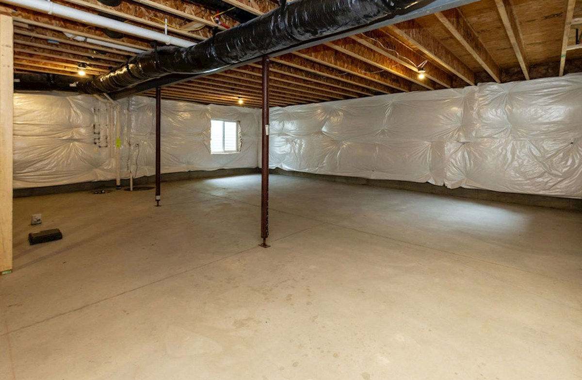 Shelby quick move-in Basement is perfect for extra storage