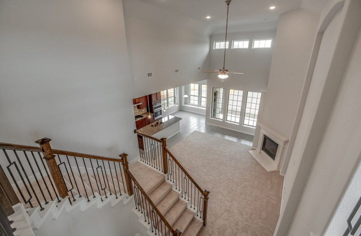 Summerfield quick move-in Summerfield great room with soaring ceilings