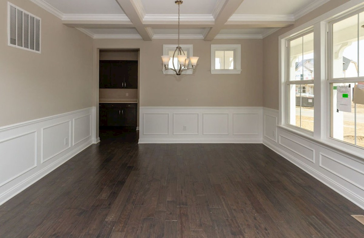Keystone quick move-in Coffered ceiling in formal dining room