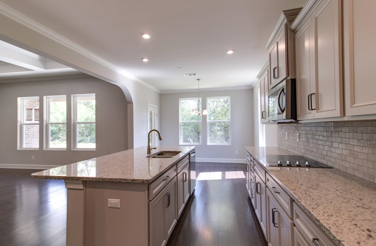 Mckinley quick move-in kitchen with white cabinetry