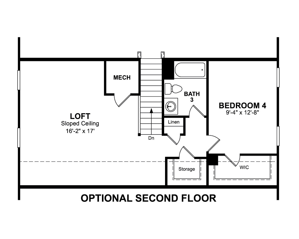 Paid options for Optional Second Floor